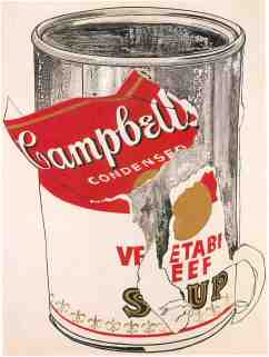 campbells soup by andy warhol